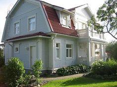 Kannustalon Rauhala. Rakastan mansardikattoja! Swedish House, Home Fashion, Old Houses, My Dream Home, Building A House, House Plans, Sweet Home, Shed, Outdoor Structures