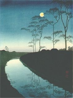 Canal by the Moonlight by Kohno SHODA, Japan