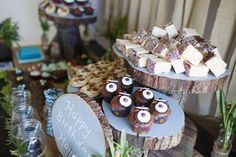 woodland owl theme food buffet