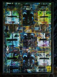 Venitians Saatchi Art, Collage, Baseball Cards, Artist, Painting, Collages, Artists, Painting Art, Paintings