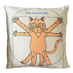 """18 """"Cubierta Square Naughty Cat Algodón / Lino almohada decorativa – EUR € 12.47 - Link afiliado - Gastos de envío gratis!!! Free shipping!!"""
