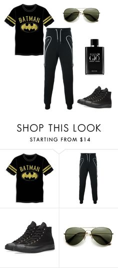 """""""Thomas"""" by maycav ❤ liked on Polyvore featuring Bioworld, Les Hommes, Converse, Giorgio Armani, men's fashion and menswear"""