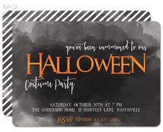Summoned to a Halloween Party invitations