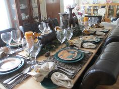 The Welcomed Guest: Fiestaware Winter Time Tablescape