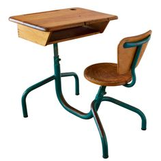 """""""Bureau d'Écolier"""" by Jean Prouvé   From a unique collection of antique and modern desks and writing tables at https://www.1stdibs.com/furniture/tables/desks-writing-tables/"""
