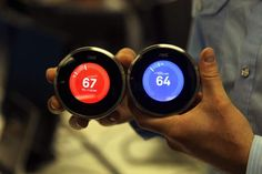 Nest thermostats, from Google, allow users to control their home's temperature from anywhere.