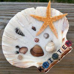Cute personalized seashells.