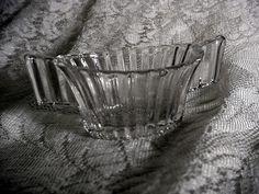 Signed Heisey Elegant Depression Glass Crystal Ridgeleigh Childs Size Sugar Bowl