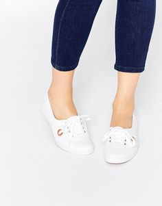Fred+Perry+Aubrey+Canvas+White+Plimsoll+Trainers