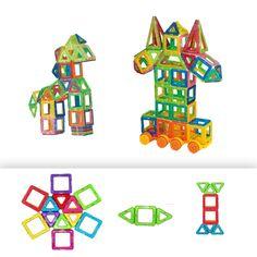Mini 60PCS DIY Magnetic Blocks Educational Toys Models Building Children's Books Magnetic Construction Set