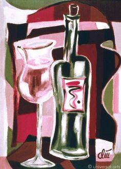 Jacqueline Ditt - Red Wine (Roter Wein) - universal arts Galerie Studio - Grafik Druck Kunstdruck nach dem Gemälde universal arts Galerie Studio edition http://www.amazon.de/dp/B00KJIQRFA/ref=cm_sw_r_pi_dp_WQD5vb12XRKZ5