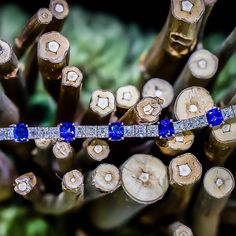 You won't need to wear any other jewelry tonight. - Sapphires and Asscher cuts combined in a beautiful bracelet