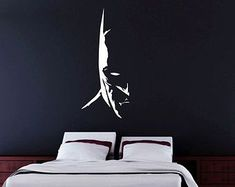 The Dark Knight - Vinyl Decal Wall Art - Batman Batman Wall Art, Batman Painting, Wall Sticker Inspiration, Batman Bedroom, Room Wall Painting, Bedroom Themes, Home Wall Art, Paint Designs, Vinyl Wall Decals