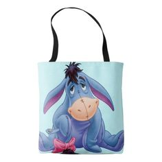 Eeyore fans wil be drawn to this customizable tote featuring sketch artwork of the gloomy ol' donkey. Your next shopping trip just got a little more earth-friendly and a lot more stylish with this sturdy reusable bag.