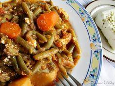 Φασολάκια γιαχνί. ΄Ενα από τα πιο αγαπημένα κλασσικά πιάτα της Ελληνικής κουζίνας για την άνοιξη και το καλοκαίρι.