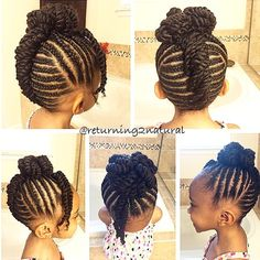 HAIRSPIRATION| This is one of the cutest kids hairstyles I've seen, styled by @Returning2Natural Cornrows and twists pinned into a bow Isn't she CUTE #VoiceOFHair ========================= Go To: www.VoiceOfHair.com ========================= Free eBook on Hairstyles for Black Women