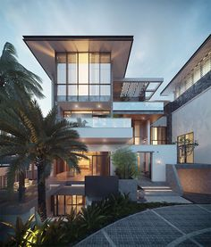 Modern architecture house design with minimalist style and luxury exterior and interior and using the perfect lighting style is inspiration for villas mansions penthouses Architecture Design, Modern Architecture House, Residential Architecture, Modern House Design, Modern Interior Design, Landscape Architecture, Phnom Penh, Luxury Modern Homes, Dream House Exterior