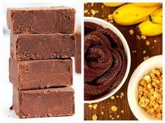 Iată cum puteți obține o ciocolată de casă vegetariană, dietetică și ideală pentru copii (în acest caz este indicat să înlocuiți pudra de cacao cu pudră de roșcove). Spre deosebire de ciocolata de casă tradițională, care se obține din lapte praf și unt, această rețetă încalcă toate regulile convenționale. Se prepară doar din fructe, ulei și cacao. Nu conține nici măcar zahăr. Dulceața acestei ciocolate provine de la banane. Vegetarian Desserts, Raw Vegan Recipes, Vegan Sweets, Healthy Sweets, Sweets Recipes, Coconut Oil Chocolate, Easy Vegan Dinner, Sunday Recipes, Dessert Drinks