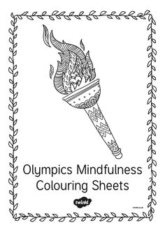 colouring sheets to bring calm to your classroom or for adult coloring based on the Rio Olympics 2016