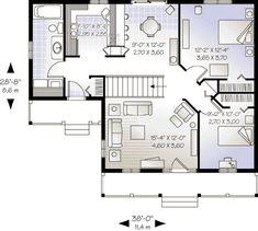 Cottage Style House Plan - 2 Beds 1 Baths 946 Sq/Ft Plan #23-526 Floor Plan - Main Floor Plan - Houseplans.com