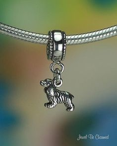 Cocker Spaniel Charm for European Style Bead Bracelet Sterling Silver