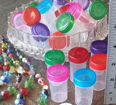 20 Plastic Pill Bottles Containers RED Caps  #3314 Favors Wellness MMJ DecoJars