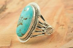 Beautiful Candelaria Turquoise Ring at www.TreasuresoftheSouthwest.com/RN9094-p-turquoise-rings_9.html