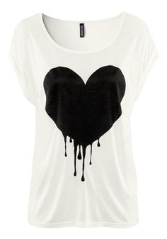 d027c54a8e72 Shop Soft Heart Printed Round Neckline Cotton T-Shirt on sale at Tidestore  with trendy design and good price. Come and find more fashion T-Shirts here.