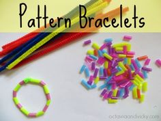 Pattern Bracelet Activity for Kids by Kylie from Octavia & Vicky at Learn with Play at Home