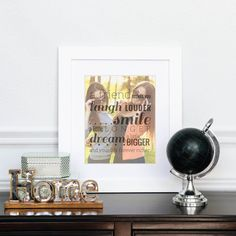 Best Friend Quote Print, Unique Birthday Gift, Friend Photo Gifts // Special print with a photo // You Choose Size & Type // H-Q20-1PS