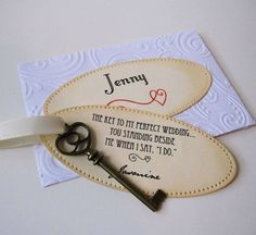 Will you be my bridesmaid Key Keepsake...
