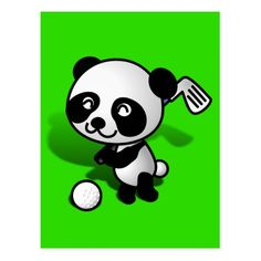 Looking for a golf ball to hit, this Golfing Cute baby panda ready to play tee off! Let's play Golf! #Sports4you - #gravityx9