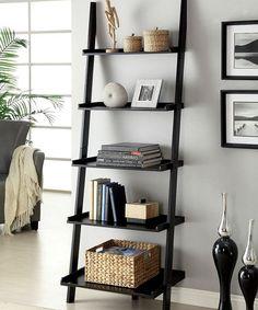 Loving this Black Five-Tier Ladder Shelf on #zulily! #zulilyfinds