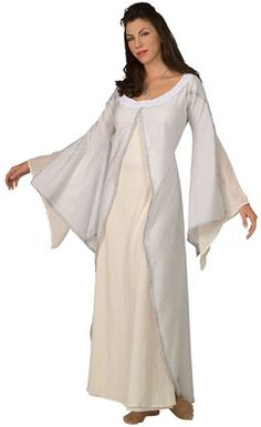 Dress like the character Arwen from Lord of the Rings movie. Arwen forsook her Elven immortality to wed Aragorn. Arwen Adult Halloween Costume consists of a white . Fancy Costumes, Sexy Halloween Costumes, Halloween Fancy Dress, Costumes For Women, Movie Costumes, White Costumes, Adult Halloween, Adult Costumes, Book Week Costume