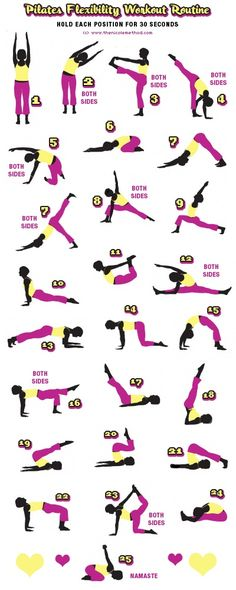 Pilates Poster. Great Stretches to  strengthen your core!  #pilates