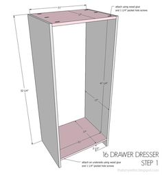 Free Directions for 16 drawer dresser