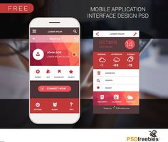 Freebie: Mobile application interface design PSD designed by PSD Freebies. the global community for designers and creative professionals. Application Design, Mobile Application, App Home Screen, Html Design Templates, Applications Mobiles, Le Web, User Interface Design, Mobile Design, Interactive Design
