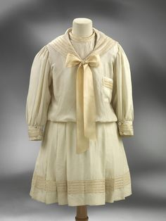 ca. 1905 (made) Sailor suit     V&A Search the Collections