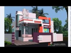 ONE BHK GROUND FLOOR HOUSE PLAN AND 3D ELEVATIONS 3d Home Design, Home Design Plans, Door Design, 2bhk House Plan, 3d House Plans, Single Floor House Design, Duplex House Design, Building Elevation, House Elevation
