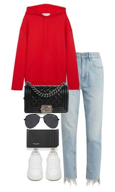 """Untitled #5435"" by theeuropeancloset on Polyvore featuring M.i.h Jeans, Balenciaga, Yves Saint Laurent, Chanel, Golden Goose and Quay #casualoutfits"