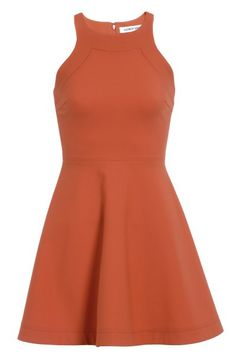 Tangerine Picks: Elizabeth and James orange sleeveless fit and flare dress with scooped shoulder, $410, shopbop.com