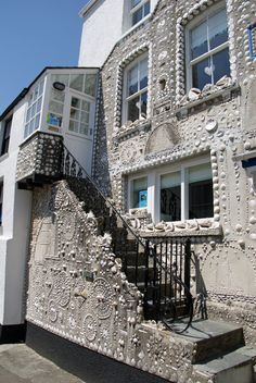 The Shell House was decorated by a retired naval man in the 1950s using his lifetimes collection of shells from around the world, Polperro, Cornwall