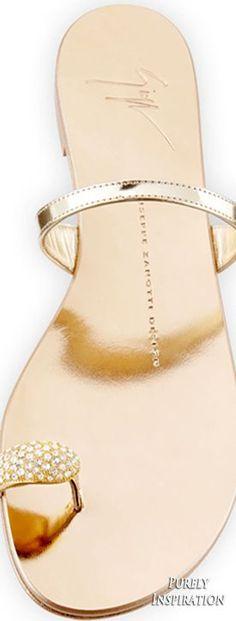 Giuseppe Zanotti Metallic Toe-Ring Flat Sandal, Gold   Purely Inspiration (scheduled via http://www.tailwindapp.com?utm_source=pinterest&utm_medium=twpin&utm_content=post161313995&utm_campaign=scheduler_attribution)