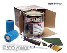 A number of different brush-on bedliner kits are available at auto parts stores and online.