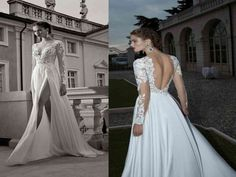 Customize beach long sleeves a-line/princess high split lace long chiffon wedding dress from Online Store Aless Mode Lace Wedding Dress With Sleeves, Prom Dresses Long With Sleeves, Cheap Prom Dresses, Sleeve Dresses, Lace Dresses, Lace Sleeves, A Line Bridal Gowns, Bridal Dresses, Ceremony Dresses