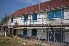 It's almost time for the scaffolding to come down. They are plastering inside and out!  Also the stairs are in and a thick blanket of insulation has gone down in the loft.  Find out more at https:www.houseplanninghelp.com/