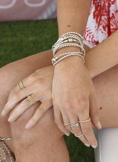 Layer up on your leather bracelets for a stylish bohemian look. #PANDORA #PANDORAstyle #PANDORAbracelet | www.goldcasters.com