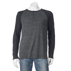 Men's SONOMA Goods for Life™ Heathered Henley, Size: