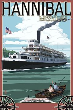 Hannibal Missouri Riverboat Giclee Gallery Print Wall Decor Travel Poster ** To view further for this item, visit the image link. (This is an affiliate link) Hannibal Missouri, Best Martial Arts, Columbia River Gorge, Vintage Travel Posters, Poster Vintage, Boat Plans, United States Travel, Mississippi, Cruise