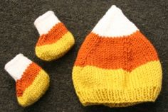 Candy Corn Hat and Booties
